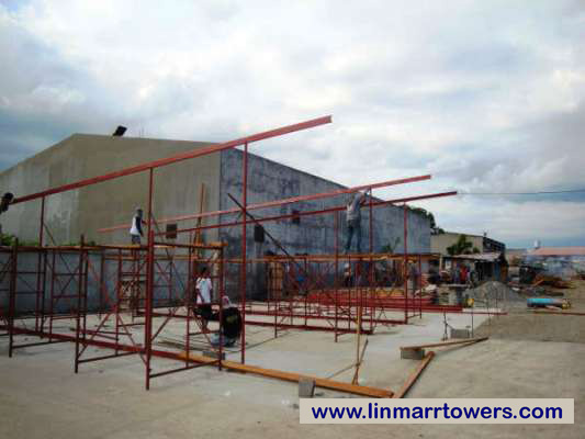 Image of the display suite construction of Linmarr Towers Condominium Complex